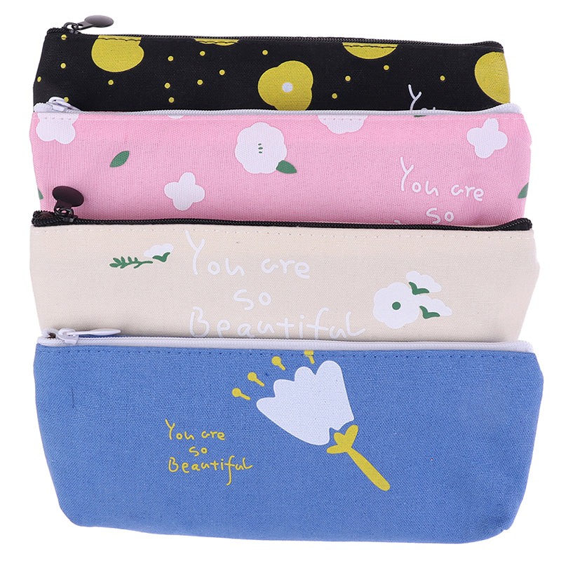 Triangle My Pencil Case Color Waterproof Storage Cosmetic Pencil Bags