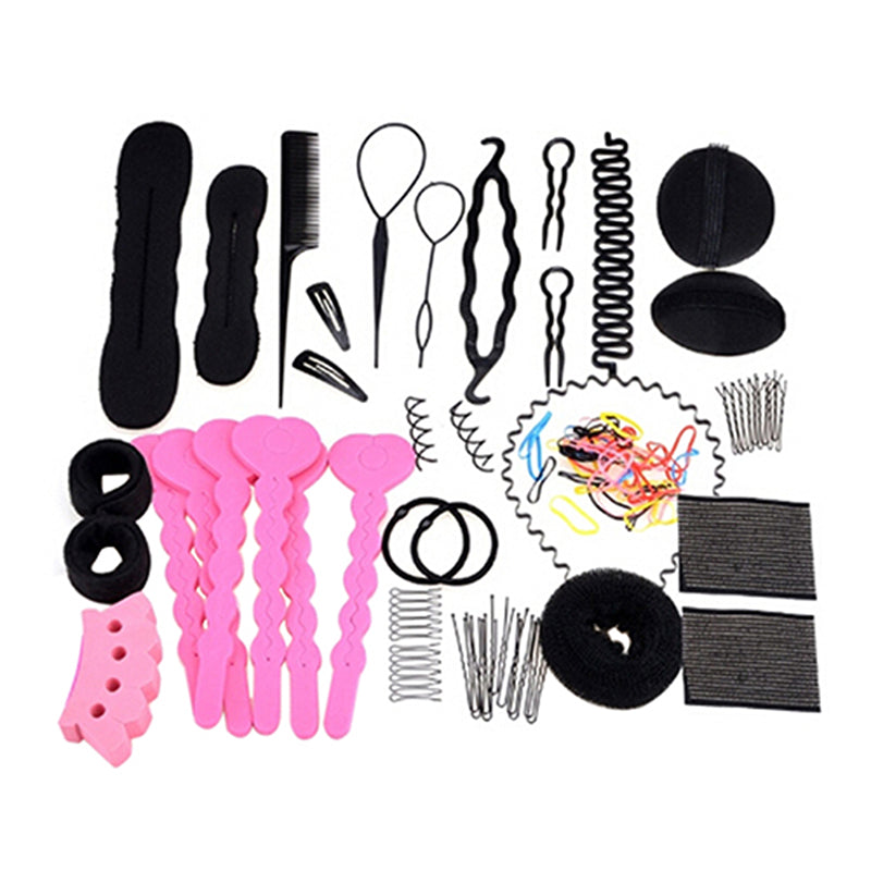 Latest 20 Types Hair Styling Clip Hairpin Hair Comb Band Twist Tool Bun Maker