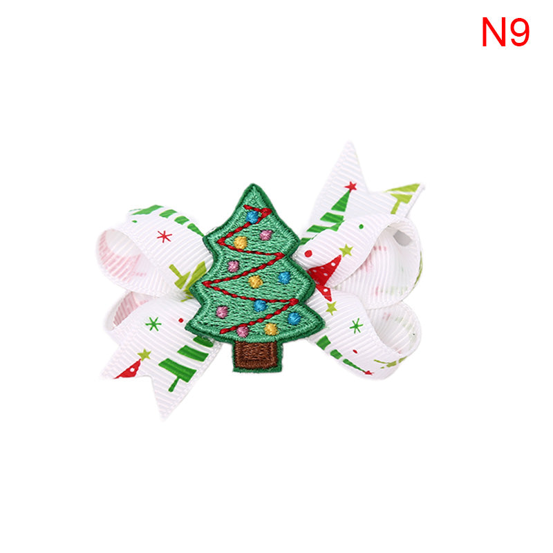 Christmas Glitter Hair Clips Girls Feather Hairgrips Kids Hair Accessories