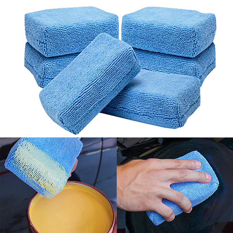 Microfiber Car Washing Sponge Automobile Cleaning Cloths Car Wax Polishing Pad