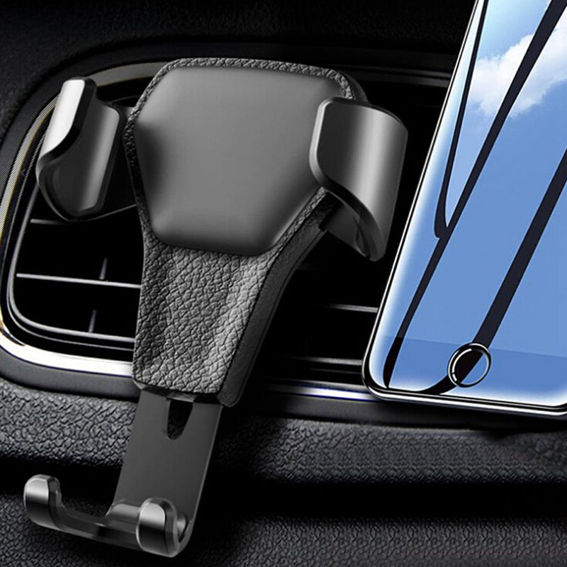 Gravity Car Phone Holder Car Air Vent Leather Mount Stand for Cell Phone GPS