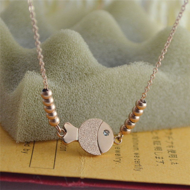 Fashion Cute Fish Anklet Chain Rose Gold Titanium Lover Barefoot Chain Jewelry
