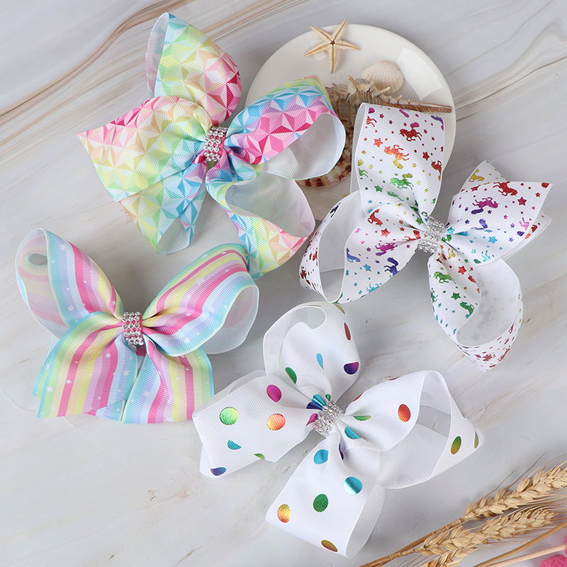 1pc 6inch big large hair bow ribbon clip headwear for women girls hair accessory