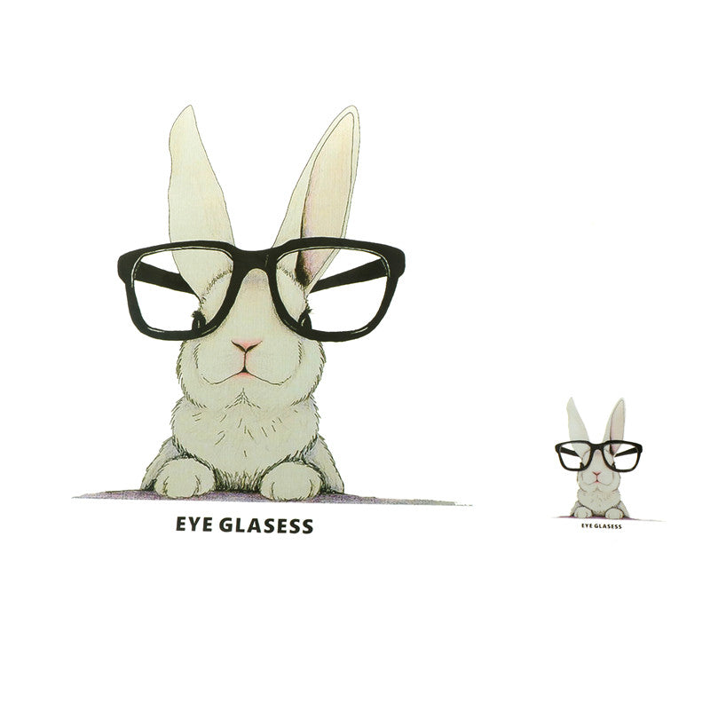 glasses rabbit iron on patches heat transfer pyrography for diy clothes decor