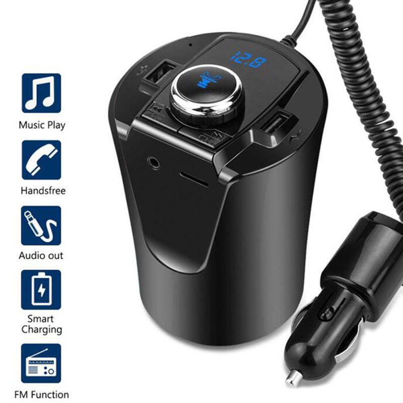 Wireless Bluetooth FM Transmitter MP3 Radio Adapter Car Kit 5V/2.1A USB Charger