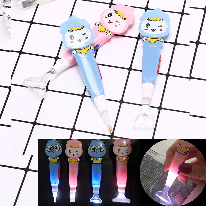 5d diamond painting tool point drill stylus pen with led light embroidery gifts