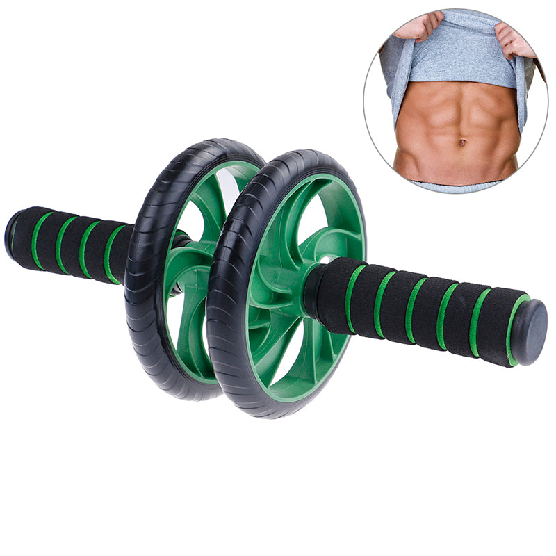 Men Women Ab Abdominal Exercise Roller With Extra Thick Knee Pad Mat Gift
