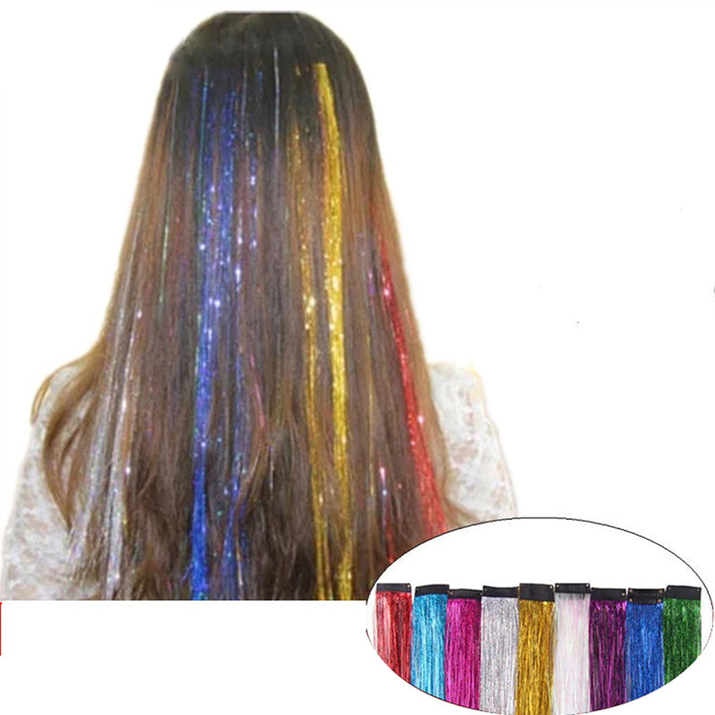 Sparkle Hair Tinsel Bling Hair Secoration For Synthetic Hair Glitter Extension