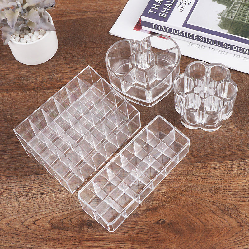 Lipstick Organizer Transparent Lip Gross Storage Large Capacity Makeup Organizer