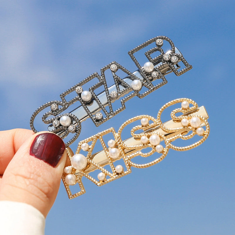 Letter Hairpins Hair Clips Girls Styling Tool Diamond Barrette Women Hairpins
