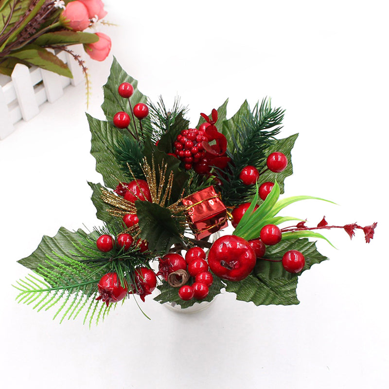 1pc artificial flower berries branch wedding christmas party decor DIY craft