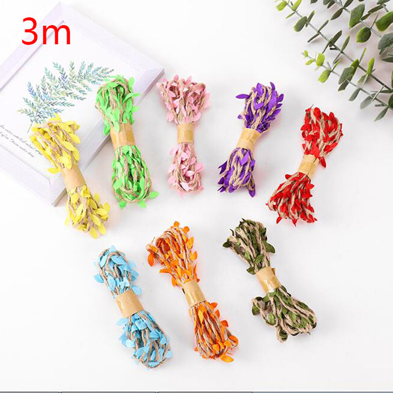 1Pcs Hemp Rope With Fake Leaves Wrap Twine Camouflage Tree Stand Blind Cover
