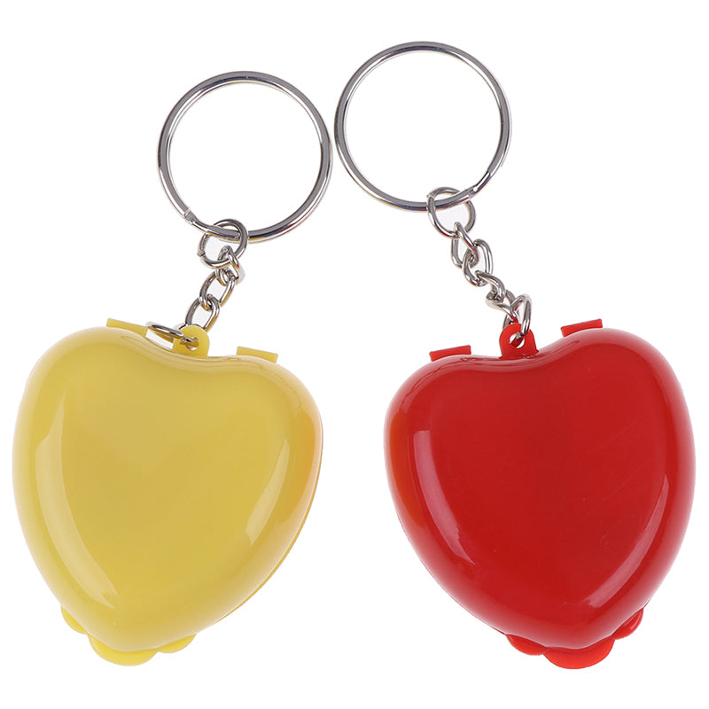 1Pc CPR Face Shield For Resuscitator Keychain Heart Shape First Aid Rescue Kit