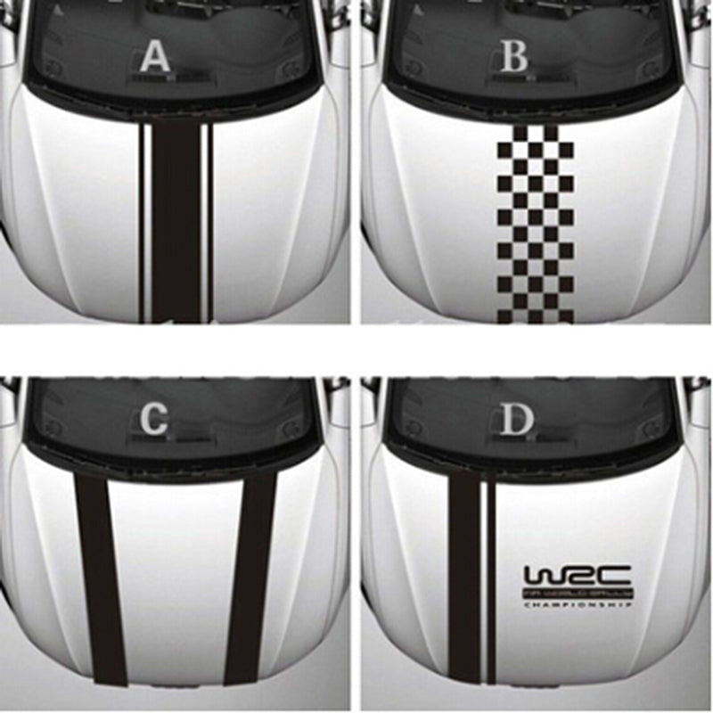 WRC Stripe Car Covers Vinyl Racing Sports Decal Head Graphics Rally Car Sticker