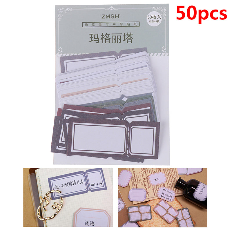 50 pcs/pack Mini Sticker Decoration Scrapbooking Sticker Stationery Diary Label