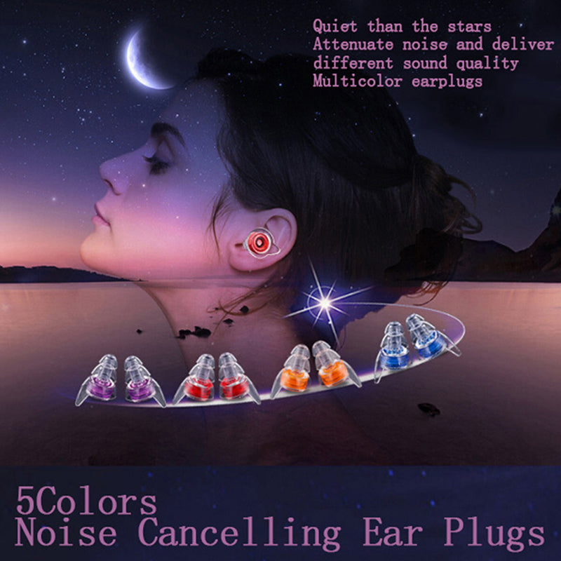 Soft silicone noise cancelling ear plugs for sleeping concert hearsafe earplugs