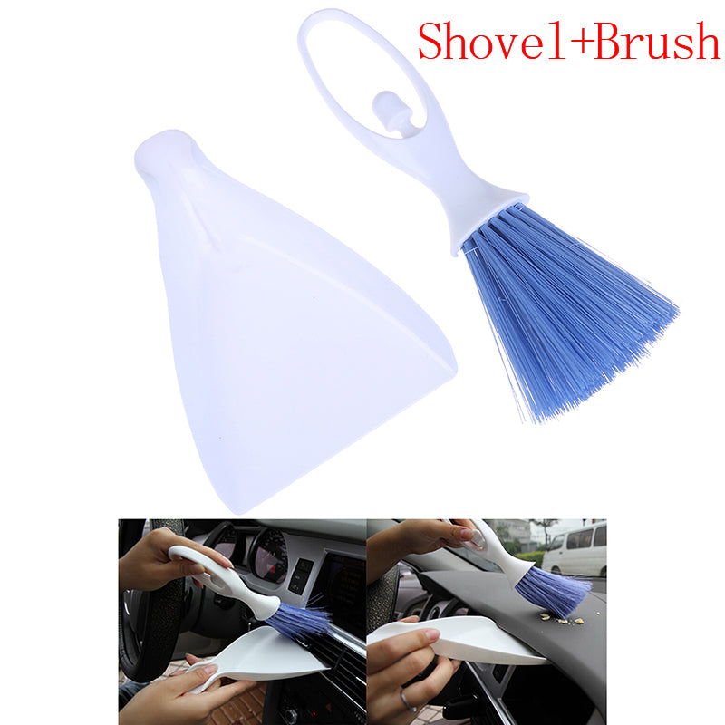 Portable Car Air Conditioning Outlet Cleaning Brush with Trash Bucket