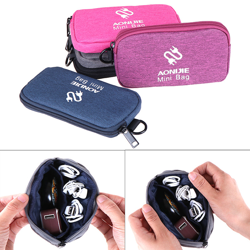 AONIJIE Portable Digital Storage Bag Gadget Devices USB Cable Line Accessories