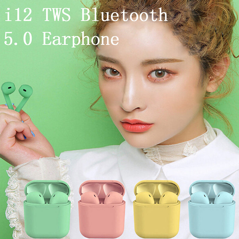 i12 TWS Bluetooth 5.0 Earphone Wireless Smart Earbuds Twins inPods Touch Control