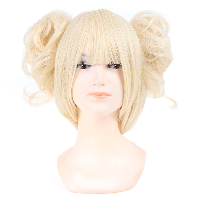 Anime Exhibition Animation Character Cosplay Wig Tiger Mouth Clip Milk Gold Hair