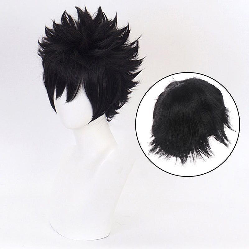 Anime Cartoon Characters Dabi Black Wig Wavy Hair Fans Cosplay Exhibition Party
