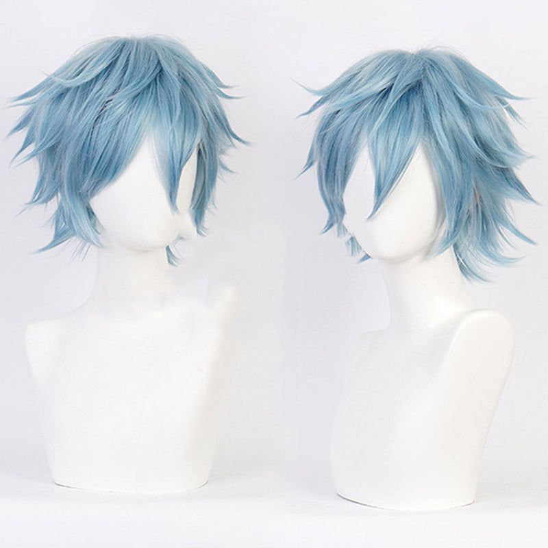 Anime Shigaraki Tomura Cosplay Wig Costume Play Wigs Costumes Gray-blue Hair