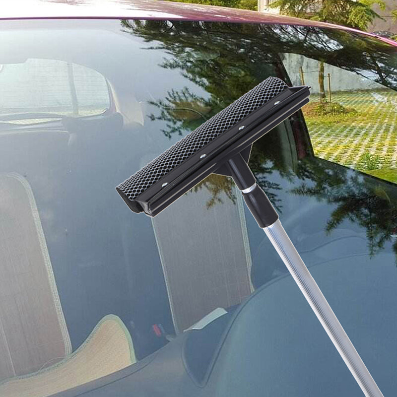 Telescopic Extendable Car Window Squeegee Cleaner Scrubber Brush Wiper Sponge