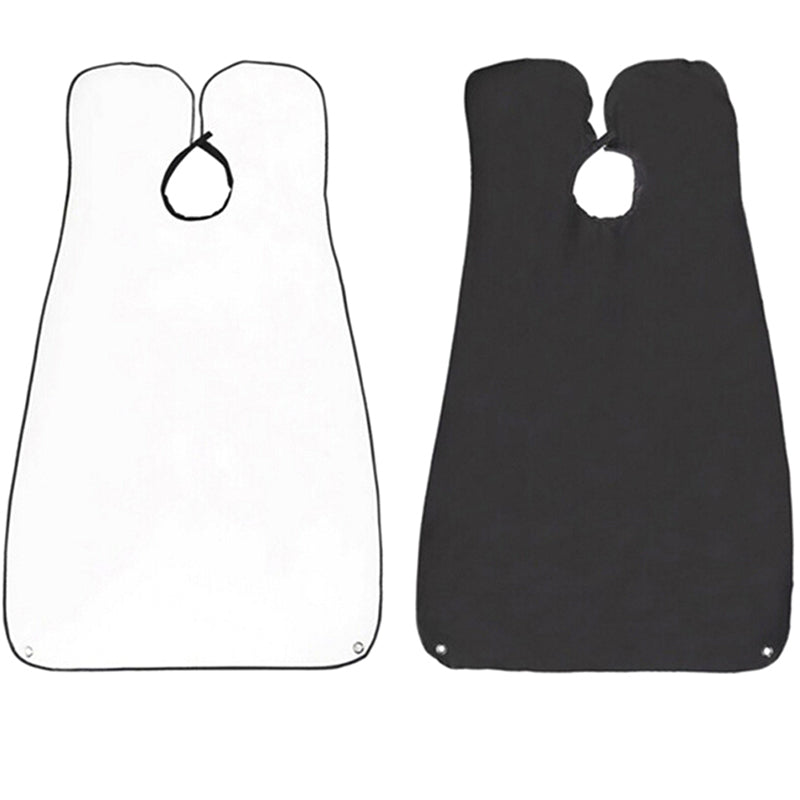 1 pc Black White Beard Apron Gather Cloth Bib Facial Hair Trimmings Catcher Cape