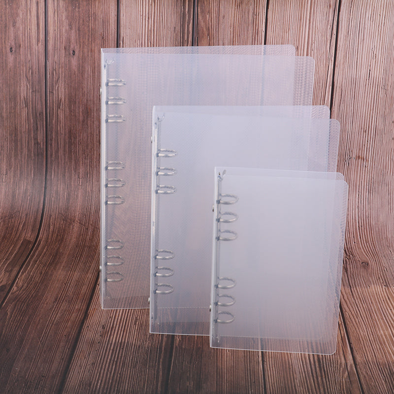 creative transparent twill pp binder shell a6 a5 six-hole b5 nine-hole folder