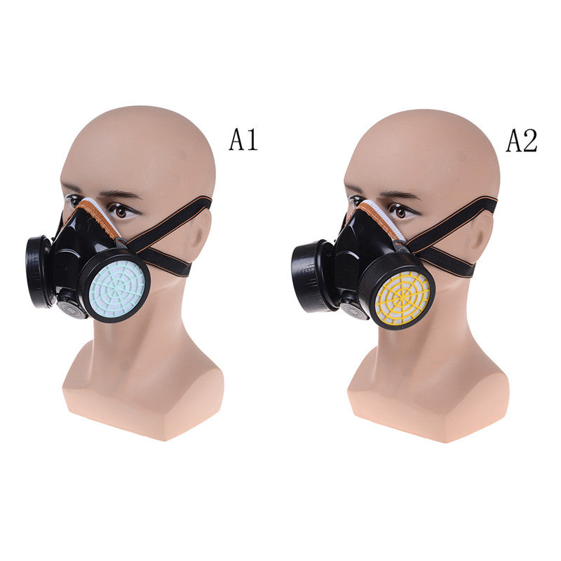 Anti-Dust Spray Chemical Gas Safety Dual Cartridge Respirator Paint Filter Mask