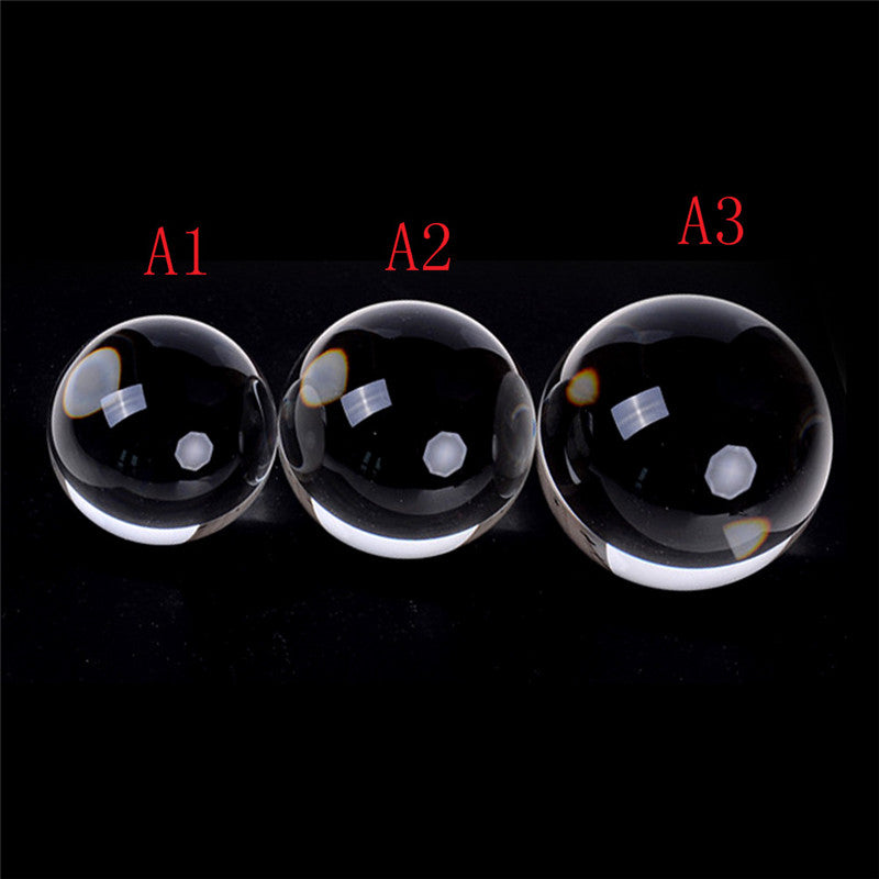 60/70/80mm Contact Juggling Ball Magic Tricks Crystal Ultra Clear Ball