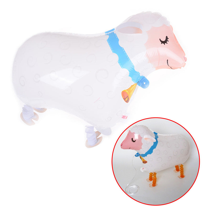 Cute Walking Balloon Pet Cute Sheep Helium Balloon Kids Toy Party Decoration