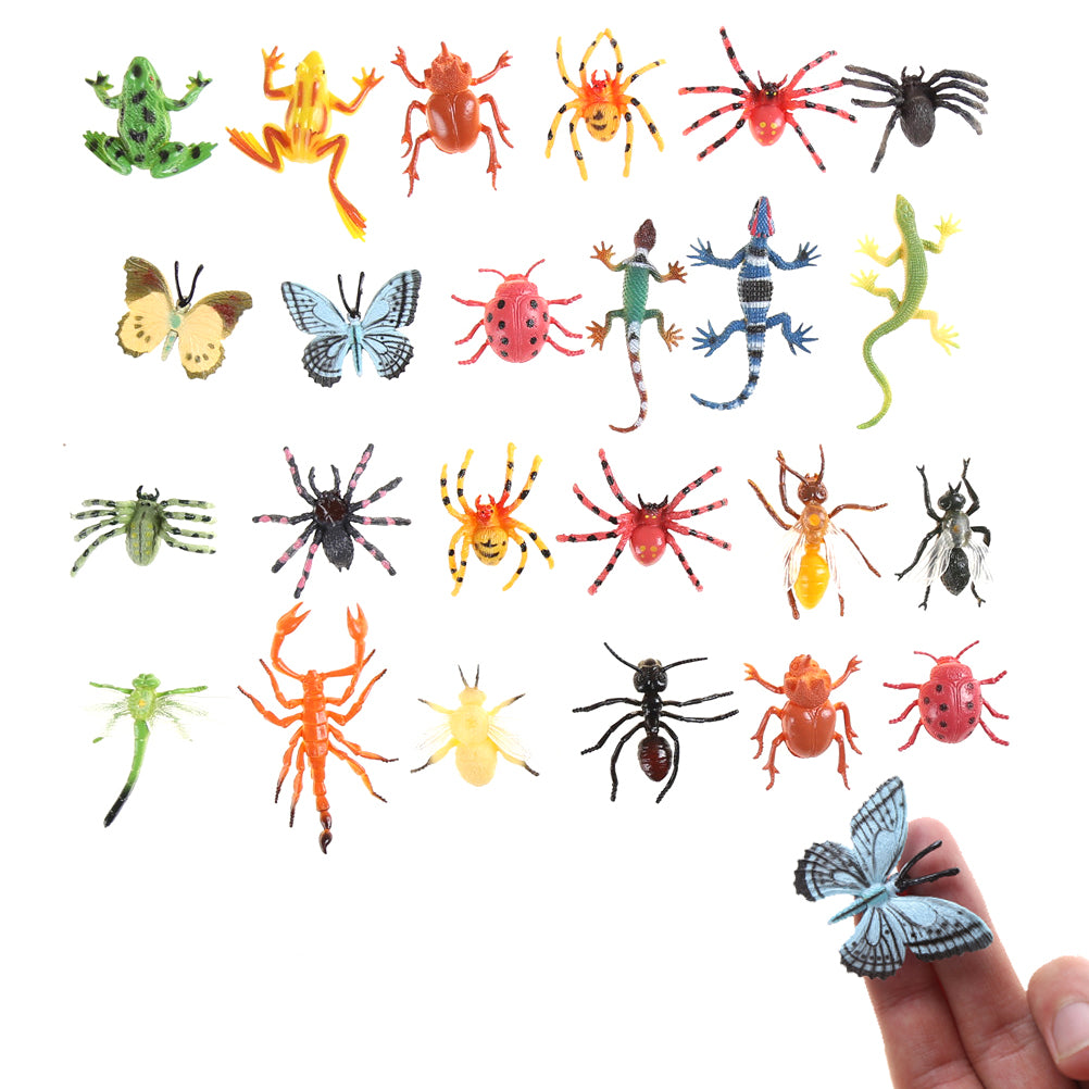12pcs Plastic Insect Reptile Model Figures Kids Party Bag gift Novelty Animal Toys