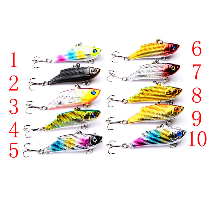 VIB sinking fishing lure 5.5cm/10g fish hook wobbler tackle crankbait hard bait