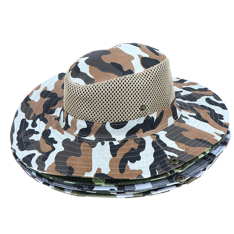 1pc Outdoor Fishing Sunshade Cap Camouflage Changable Breathable Mesh hat
