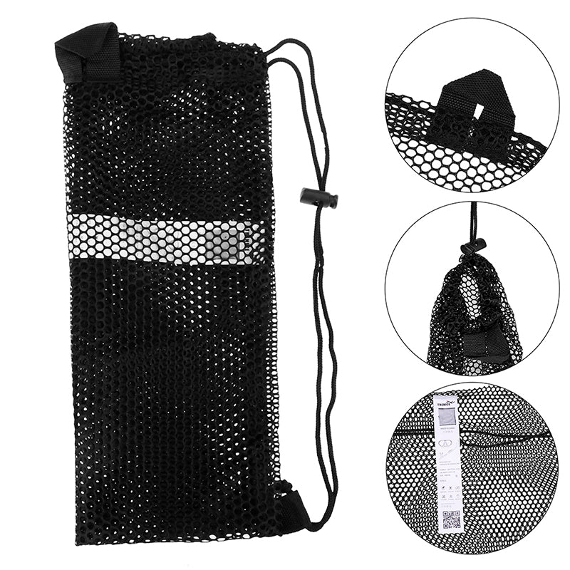 1pc Dive Drawstring Bag For Water Sports Snorkeling Mask Flippers Packing Net