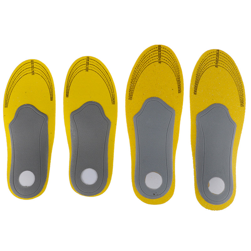 1 Pair Breathable Orthopedic Insoles Flat Foot Support Pads Camping Shoes Tools