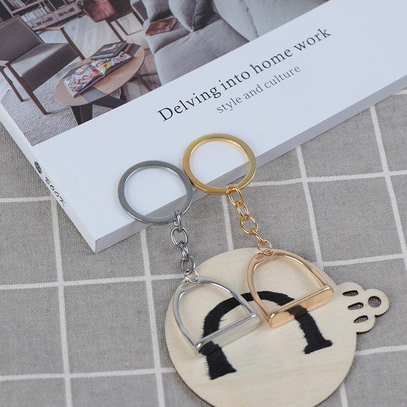 1Pc Simple Keychain KeyRing For Men Women Bag Decoration Equestrian Equine Horse