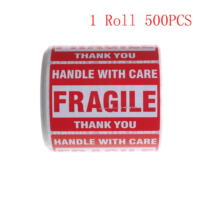 500Pcs/Roll Fragile Shipping Mailing Handle with Care Stickers 2*3  51 x 76mm
