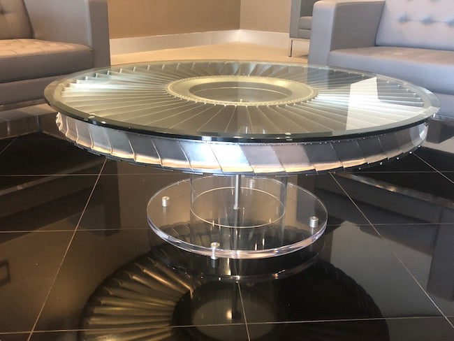 DC9 Coffee Table with Acrylic Pedestal