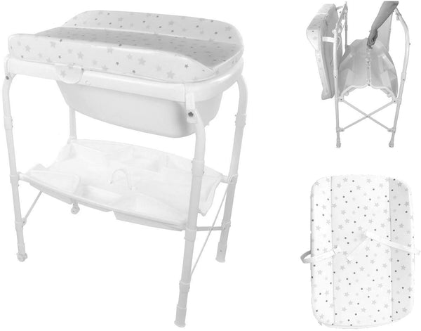 Babify Bañera con cambiador Plegable Splash - Color Stars