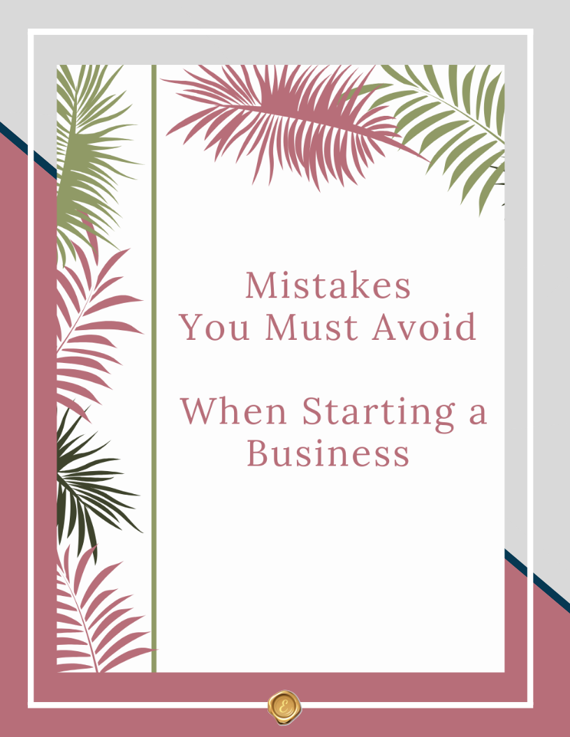 Mistakes You Must Avoid When Starting a Business