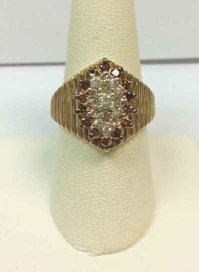 STUNNING!! Ladies Custom, One of a Kind 14K Yellow Gold 1.00 Carat Total Weight Chocolate Diamond Ring