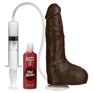 The Realistic Cock Squirting With Removable Vac-U-Lock Suction Cup Black Os