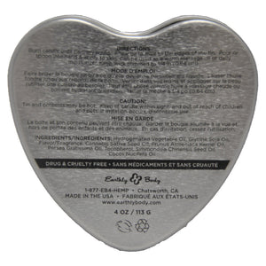 Earthly Body Heart Babydoll Massage Candle Multi 4oz