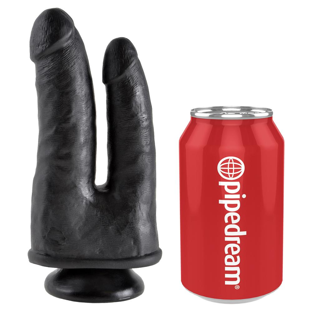 King Cock Double Black 8.5in dildo