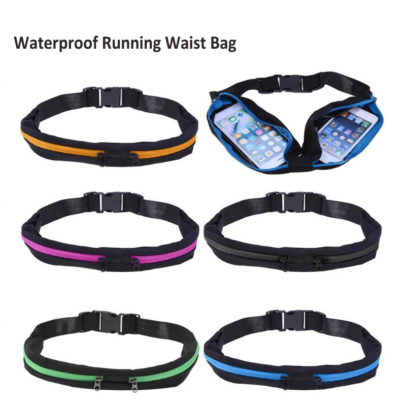 JOGGING GYM WORKOUT SLIM WAIST POCKET BELT