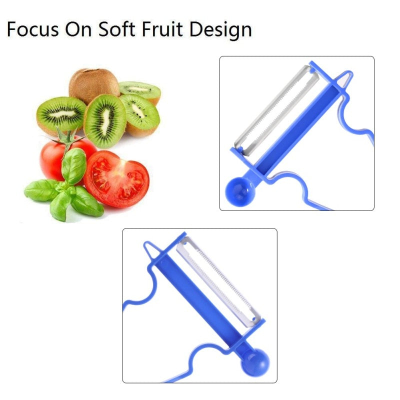 3-Set Original Swiss Peeler, Red/Green/Yellow - Peel Anything In Seconds