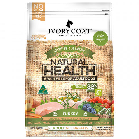 Ivory Coat 2Kg Low Fat Red Turkey Grain Free