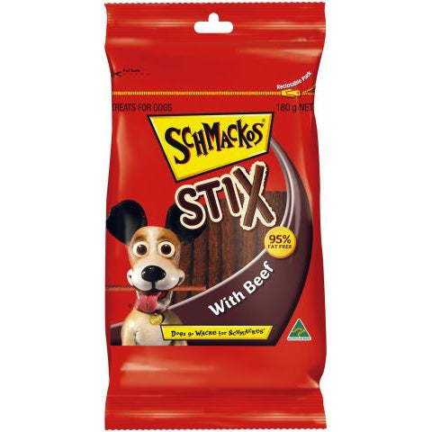 Schmackos Stix Beef 180G Dog Treats